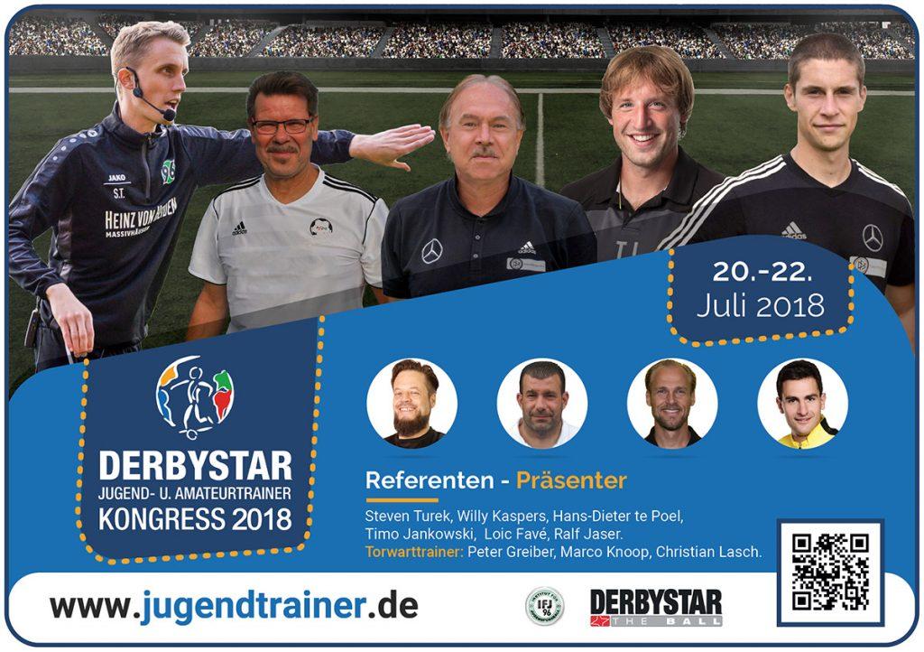 Referenten/Präsenter zum 2. Derbystar Jugend- und Amateurtrainer Kongress 2018 (Stand 25.06.2018)